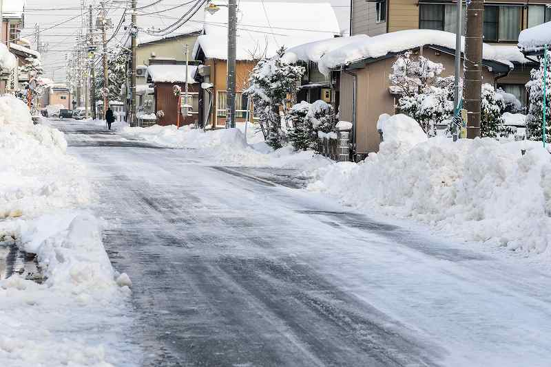 雪国ならではの劣化